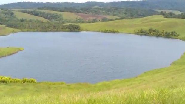 Danau Love atau Danau Imfote (Foto: Tangkapan layar video di Rumah Digital Indonesia)