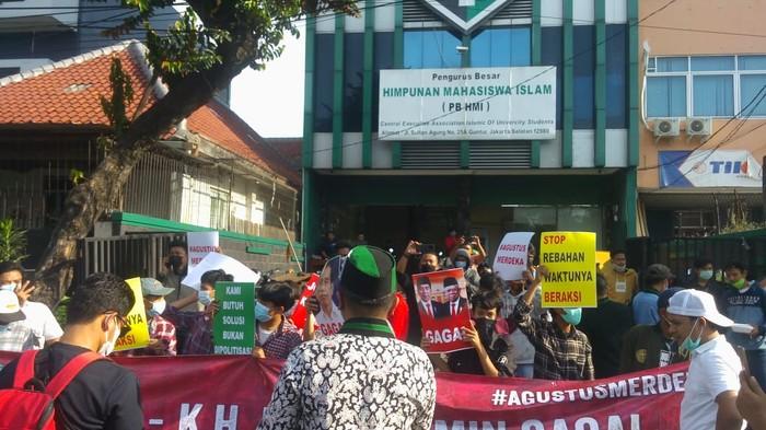 Demo HMI kubu Muis di Sekretariat PB HMI, Jakarta, 6 Agustus 2021. (Dok HMI)
