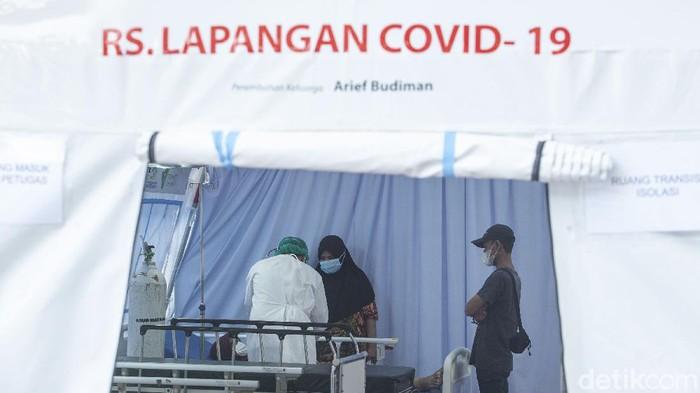 RS Lapangan COVID-19 yang berada di RSUD Matraman, Jakarta, resmi diluncurkan hari ini. Fasilitas tersebut diharapkan bisa menambah BOR di wilayah Jaktim.