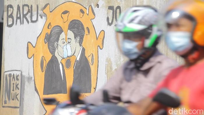 Perang terhadap virus Corona bisa diluapkan dengan berbagai macam aksi salah satunya lewat seni mural. Ini contohnya!