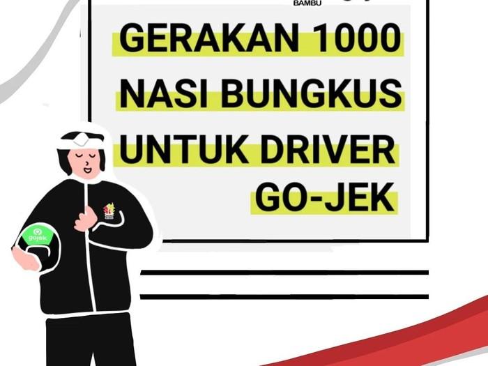 Mantap! Restoran Ini Bikin Gerakan 1000 Nasi Bungkus Buat Driver Ojol