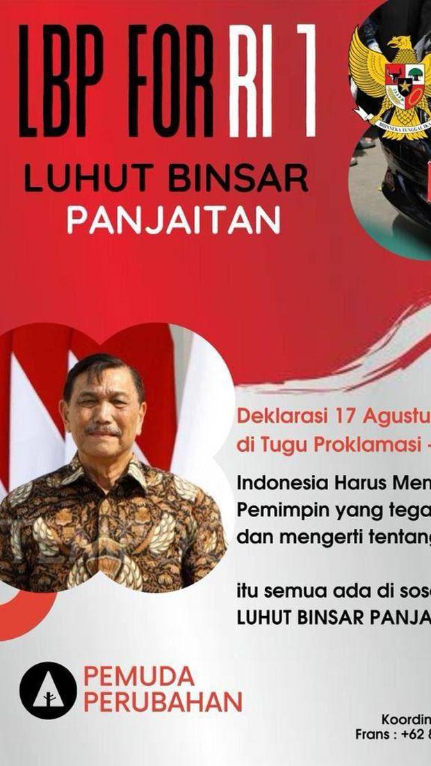 Poster deklarasi Luhut for RI 1