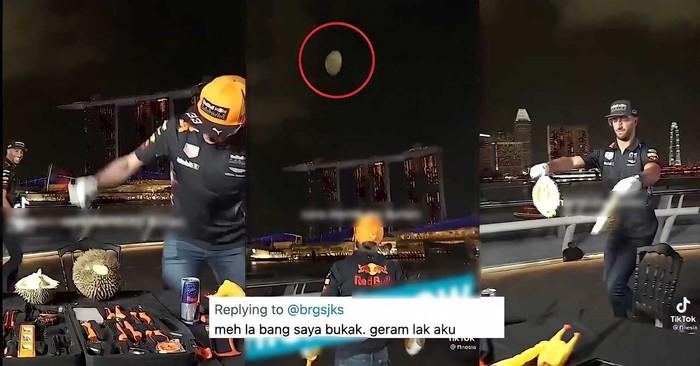 Viral Bule Hancurkan dan Buang-buang Durian, Netizen Geram!
