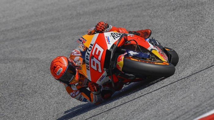 Marc Marquez di babak kualifikasi MotoGP Styria 2021.