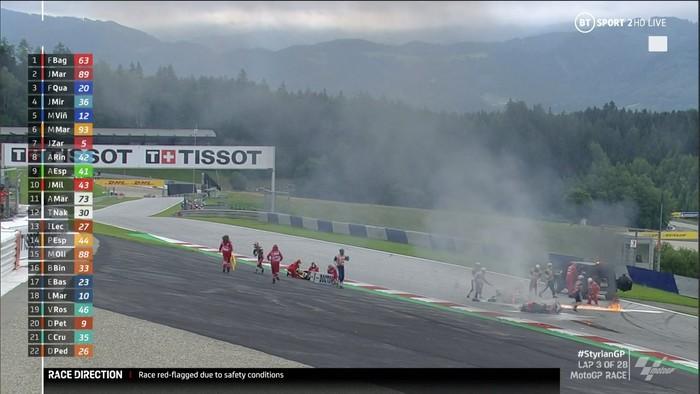 Red Flag di MotoGP Styria 2021