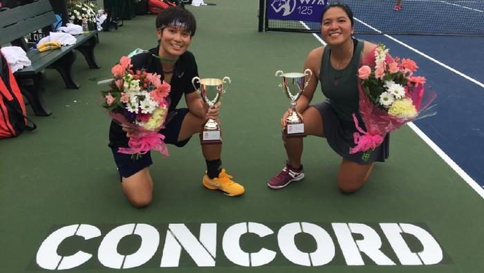 Jessy Rompies juara ganda turnamen seri WTA 125 saat berpasangan dengan Peangtarn Plipuech.