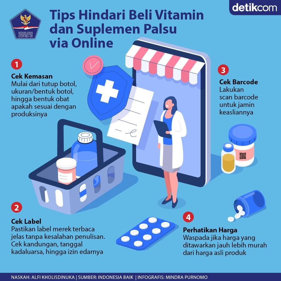 Waspada Beli Produk Vitamin dan Suplemen Palsu via Online