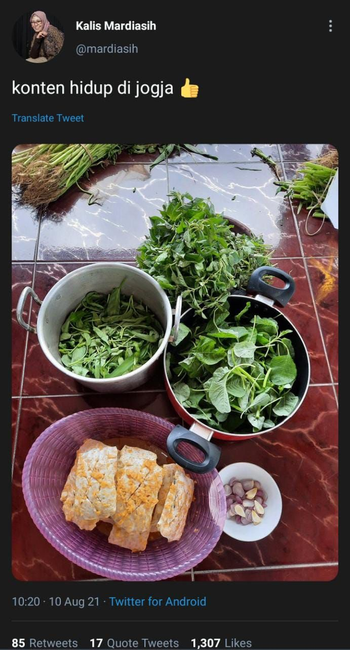 Sedap! Begini Nikmatnya Menu Makan Sederhana ala Netizen di Yogyakarta