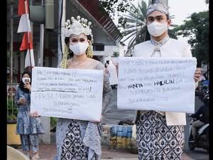 Cerita di Balik Viral Prewedding Sekaligus Protes PPKM ala Lutfi Agizal