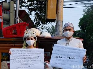 Viral Prewedding YouTuber Lutfi Agizal, Foto Sekaligus Demo PPKM Diperpanjang
