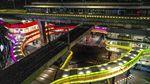 Pesona Skybridge MRT ASEAN-Halte Transjakarta CSW Saat Malam Hari