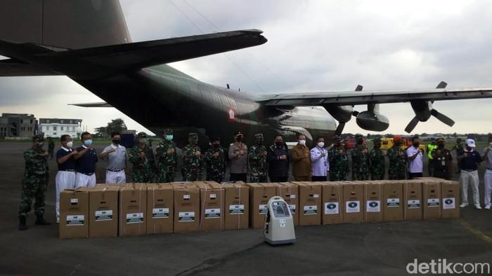 Pemprov Sumut terima 100 unit oksigen konsentrator dari Panglima TNI (Datuk Haris Molana/detikcom)