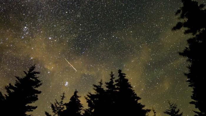 Hujan meteor Perseid terjadi di langit Virginia, Rabu (11/8). Begini potretnya.