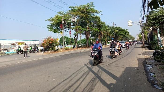 Penyekatan di Pesing, KM 11 Jalan Raya Daan Mogot, Jakbar ditiadakan
