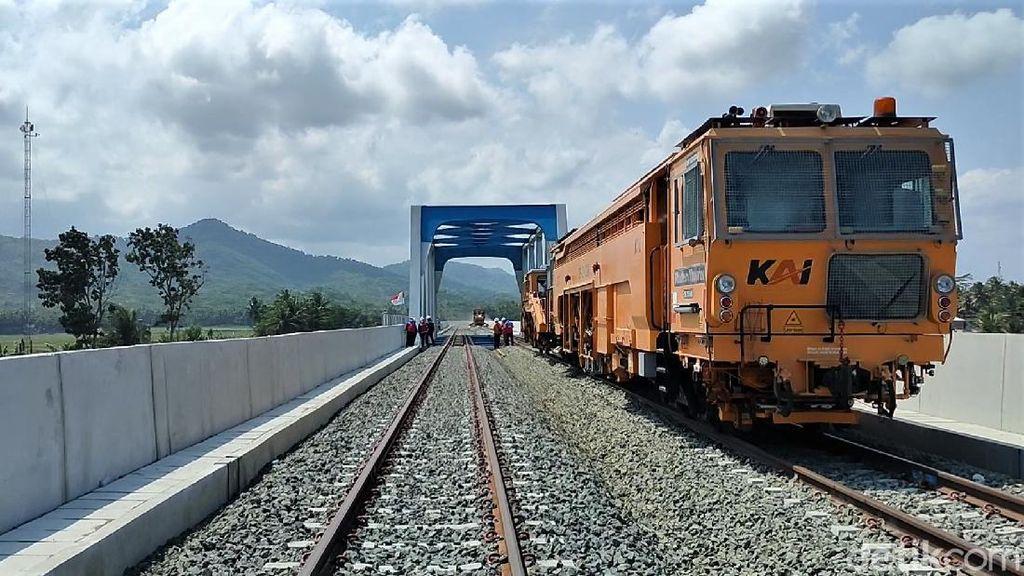 Jalur KA Bandara Yogyakarta Diuji Coba Sebelum Dioperasikan 17 Agustus
