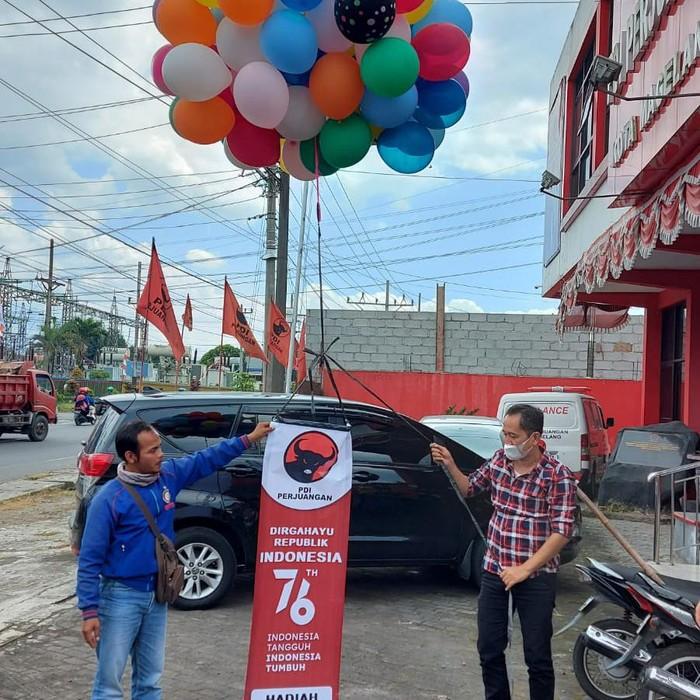 Contoh balon udara yang akan ditrerbangkan PDIP Jateng
