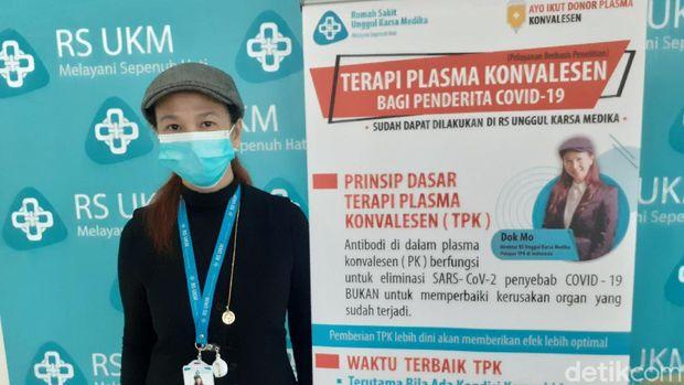 dr Theresia Monica Rahardjo pencetus terapi plasma konvalesen