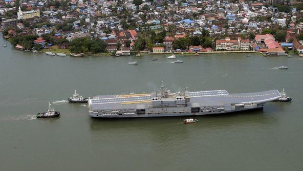 India's first aircraft carrier, INS Vikrant