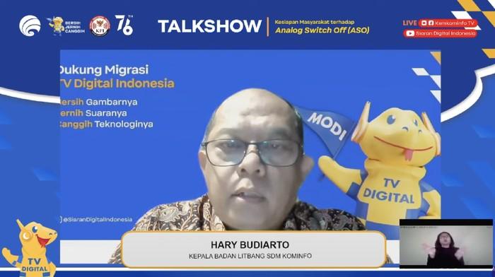 Kepala Bidang Litbang SDM Kominfo, Hary Budiarto