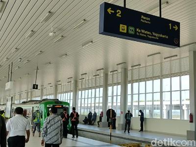 Siap Beroperasi, Begini Penampakan Stasiun KA Bandara YIA