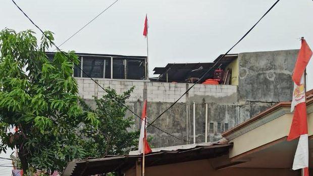 Bendera Palestina sempat berkibar di rumah warga di Karawaci, Kota Tangerang (Dok.istimewa)