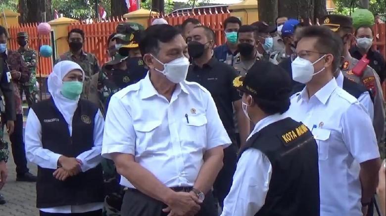 Menko Mervest, Luhut Binsar Pandjaitan akhirnya memenuhi janjinya meninjau langsung penanganan COVID-19 di Malang Raya