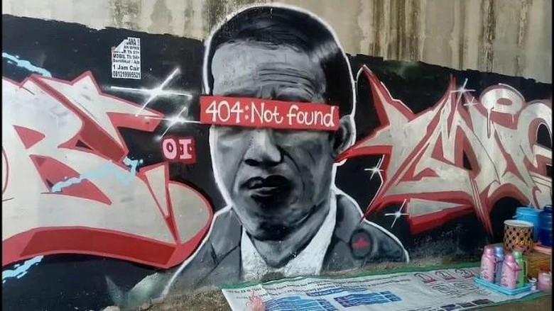 Mural Jokowi 404: Not Found terpampang di dinding di Tangerang (dok.istimewa)