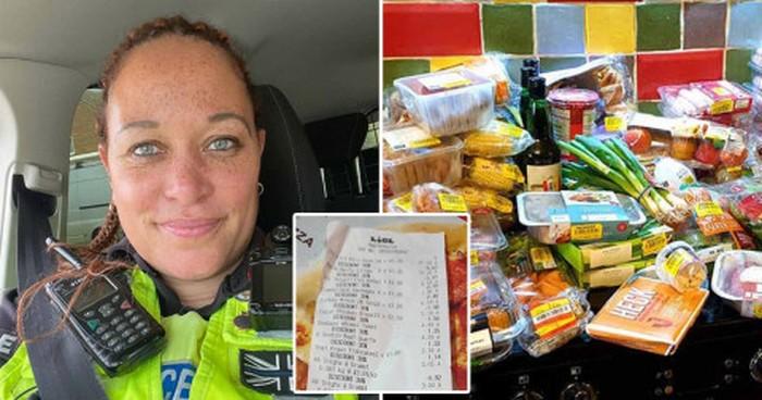 Pernah Hidup Susah, Polisi Wanita Ini Jadi Hemat Saat Belanja Makanan Keluarga