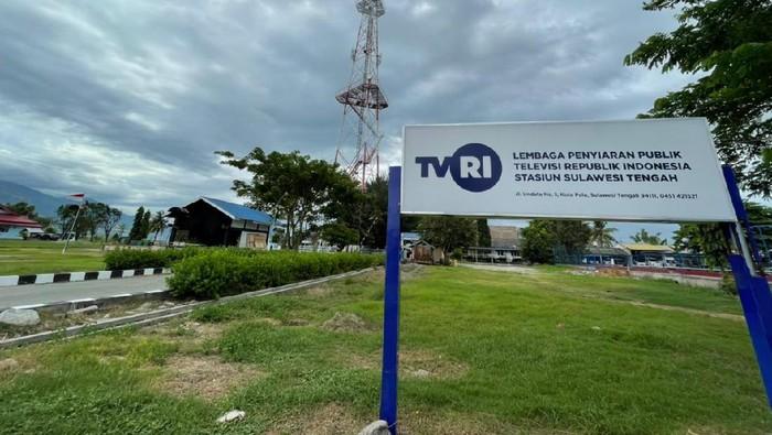 Suasana kantor TVRI Sulteng saat menerapkan lockdown pada Jumat (13/8/2021) siang