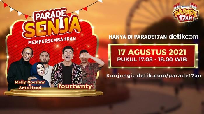 detikcom mau mengajak kamu bersantai dan menikmati senja di hari kemerdekaan Indonesia, lewat Parade Senja di panggung utama Parade 17an!