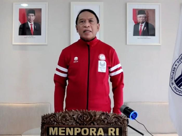 Menpora Zainudin Amali mengukuhkan dan melepas kontingen Indonesia yang akan mengikuti Paralimpiade Tokyo 2020, Sabtu (14/8/2021)