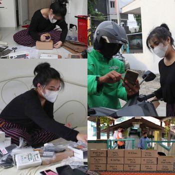Foto Ghina Ghaliya yang mengagas ide donasi ponsel bekas.