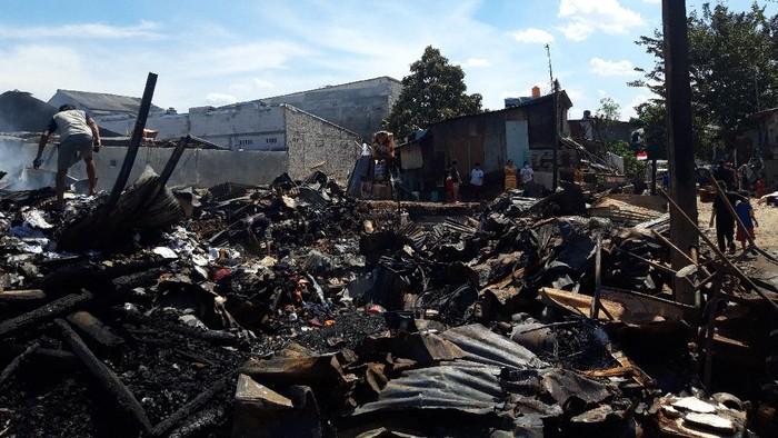 Lokasi kebakaran di Mampang Jaksel (Foto: Rakha/detikcom)