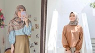 10 Adu Gaya Hijab Larissa Chou dan Henny Rahman, Istri dan Mantan Alvin Faiz