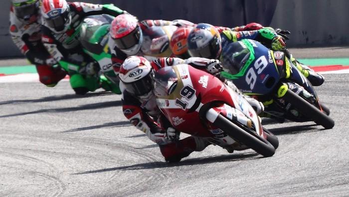 Aksi Andi Gilang di gelaran Moto3 Austria 2021