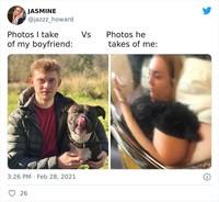 Foto perbandingan difoto pacar