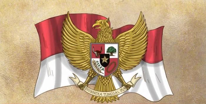 Lambang Garuda Pancasila (Foto: Tangkapan layar video di Rumah Digital Indonesia)