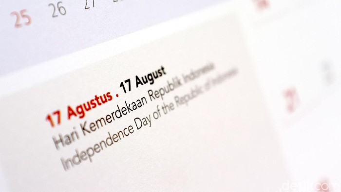 Kalender HUT RI 17 agustus. dikhy sasrailustrasidetikfoto