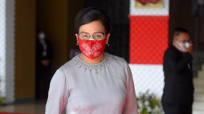 Sidang Tahunan MPR dilaksanakan dalam satu rangkain dengan Sidang Bersama DPR dan DPD. Para menteri Jokowi hadir dalam sidang tahunan tersebut.