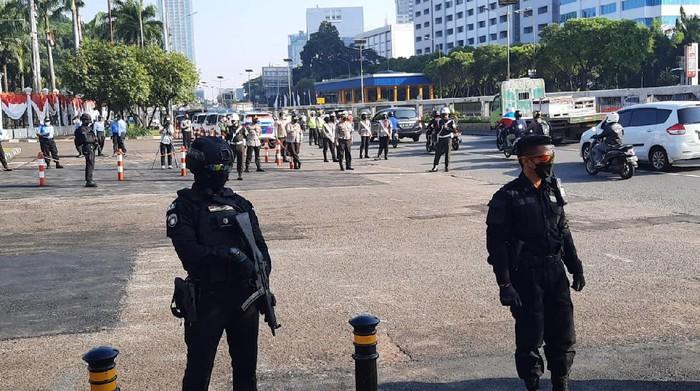 Pengamanan sidang tahunan di Gedung DPR/MPR Senayan (Yogi/detikcom)