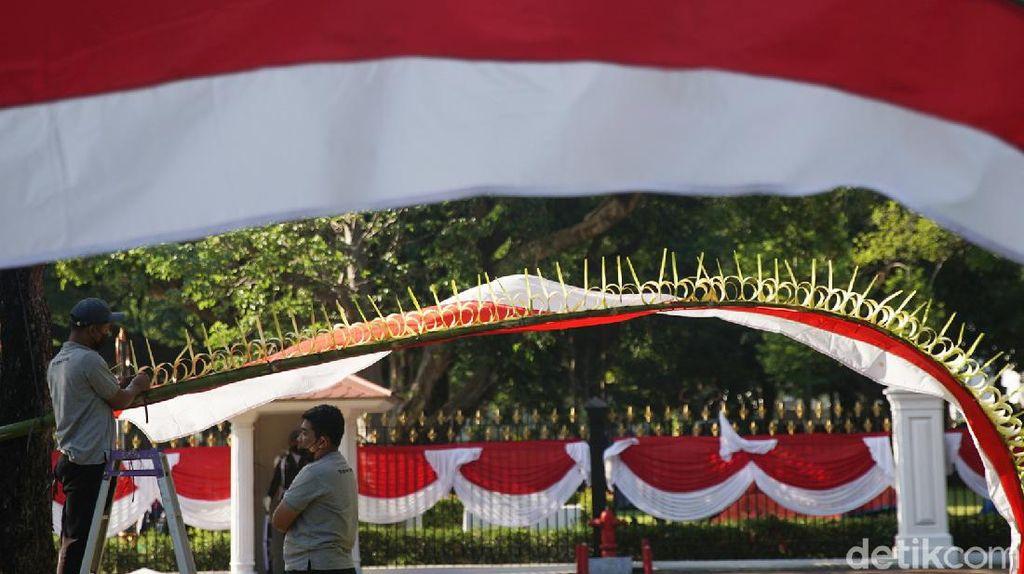 Persiapan Istana Negara Menyambut HUT RI ke-76