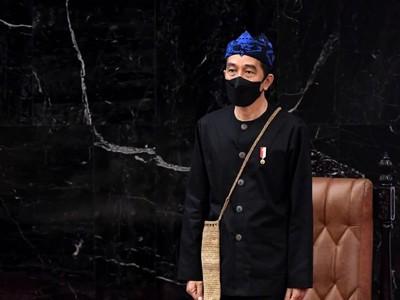 Presiden Jokowi dan Baju Adat Baduy Sederhana yang Dipakainya