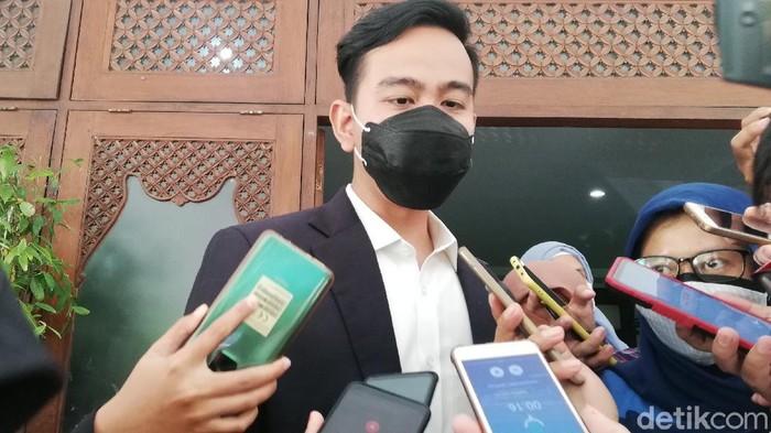 Wali Kota Solo Gibran Rakabuming Raka di Balai Kota Solo, Senin (16/8/2021).