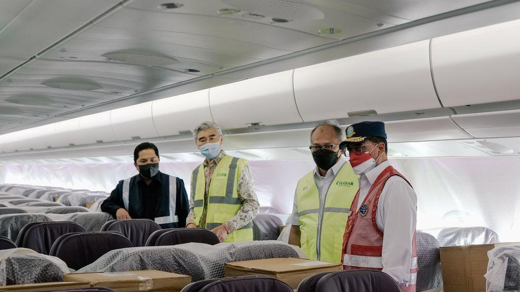 Citilink Terbang dari Amerika ke Jakarta Bawa Alat Kesehatan