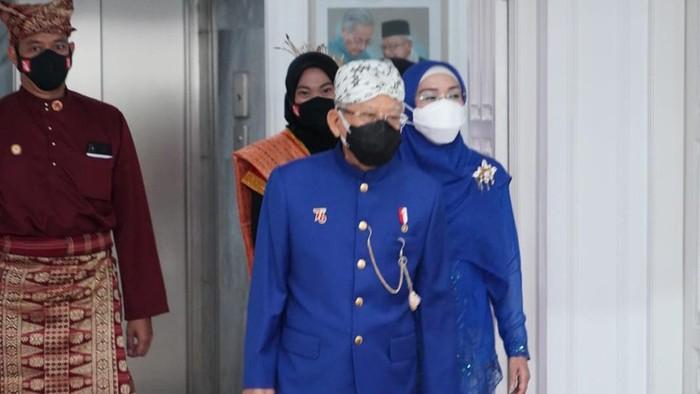 Maruf Amin dan Istri hadiri upacara HUT ke-76 RI di Istana Merdeka