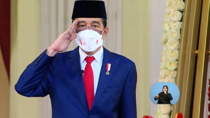 Screenshot Presiden Jokowi Pimpin Upacara Penurunan Bendera