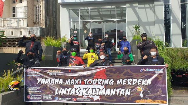Touring Merdeka komunitas Yamaha