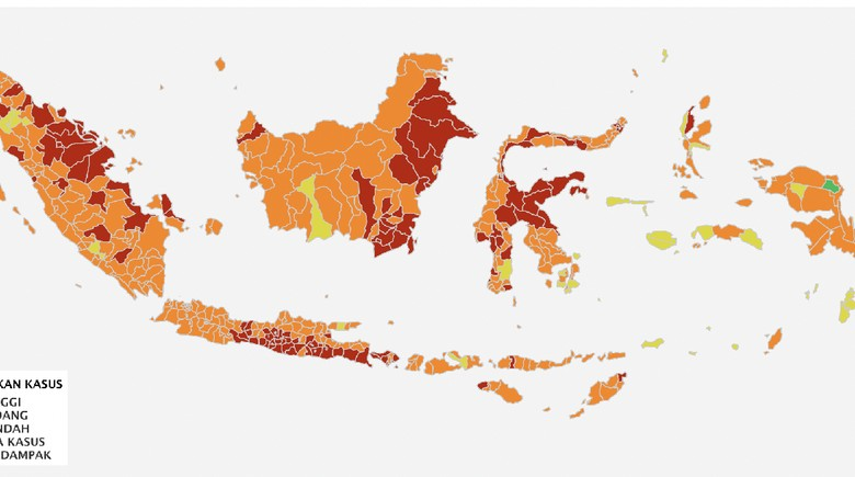 DKI Jakarta, Jawa Barat dan Banten sudah bebas dari zona merah.