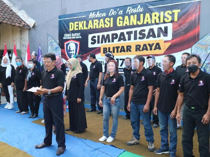 Ganjar For Presiden Menggema di Deklarasi Relawan Blitar Raya