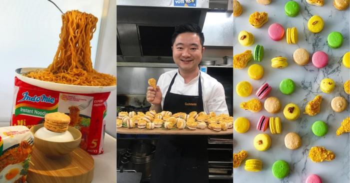 Keren Banget! Chef Indonesia Ini Sukses Buat Macaron Rasa Sate hingga Indomie